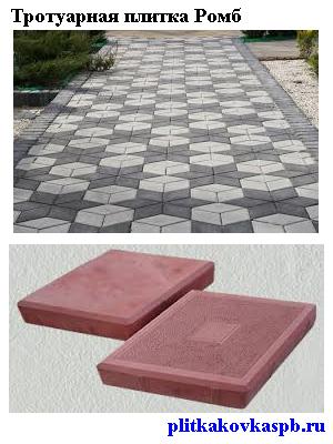 Тротуарная плитка Ромб Фото