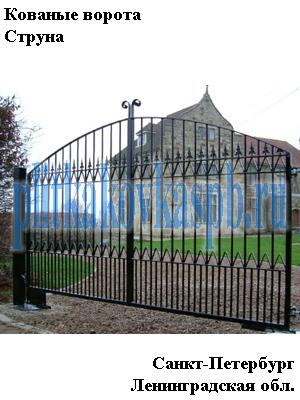 Кованые ворота Струна