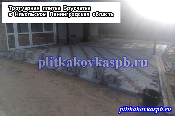 Тротуарная плитка Никольское Ленинградская область от производителя