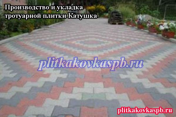 Узоры укладки тротуарной плитки Катушка