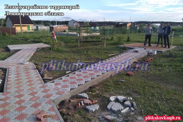 Благоустройство дачного участка в Ленинградской области