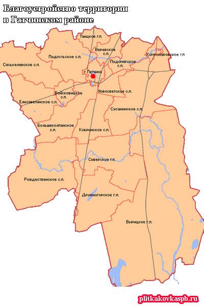 Благоустройство территории в Гатчинском районе