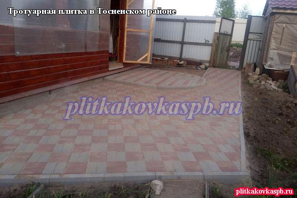 Примеры наших работ по укладке тротуарной плитки вТосненском районе