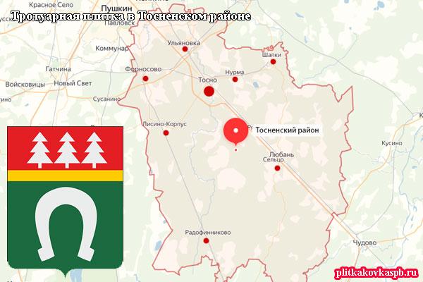 Мы обслуживаем все населённые пункты Тосненского района