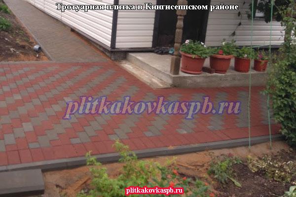 Примеры укладки тротуарной плитки: Кингисеппский район