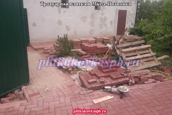 Тротуарная плитка в Мыза-Ивановка