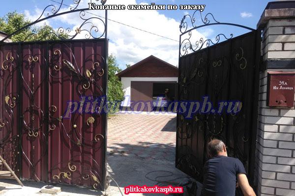 Кованые ворота на заказ в Ленинградской области