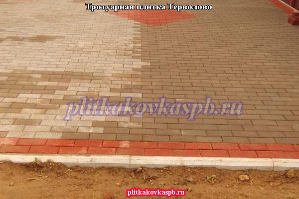 Производство и укладка тротуарной плитки брусчатка вибропресс в посёлке Терволово на даче (Гатчинский район, Ленинградская область)