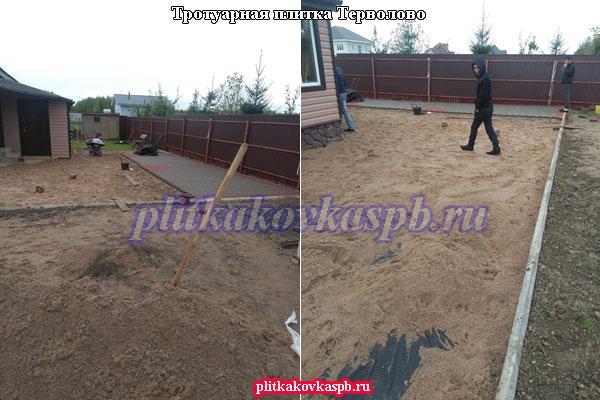Тротуарная плитка брусчатка в Терволово Гатчинский район