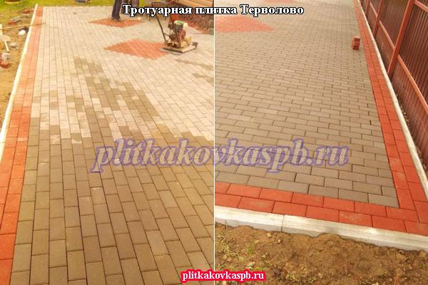 Тротуарная плитка Терволово