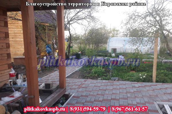 Примеры укладки тротуарной плитки в Кировском районе