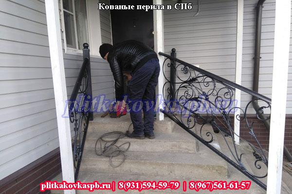 Кованые перила в Кировске на заказ Ленинградская область