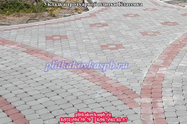 Тротуарная плитка в Сестрорецкесадоводческое некоммерческое товарищество Разлив